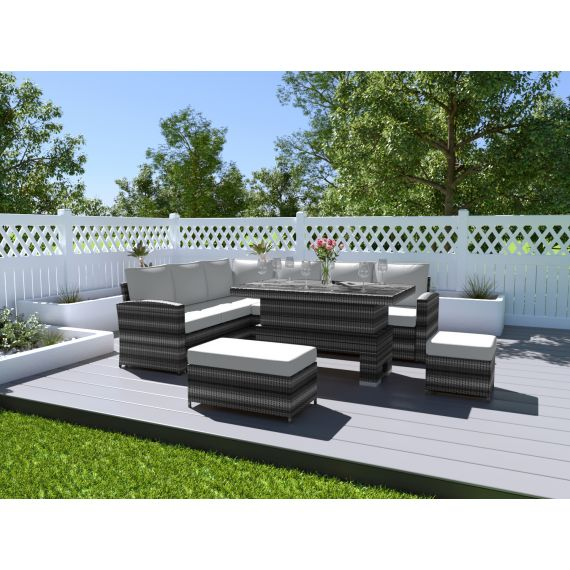 Garden Furniture Rattan Rising Table Set